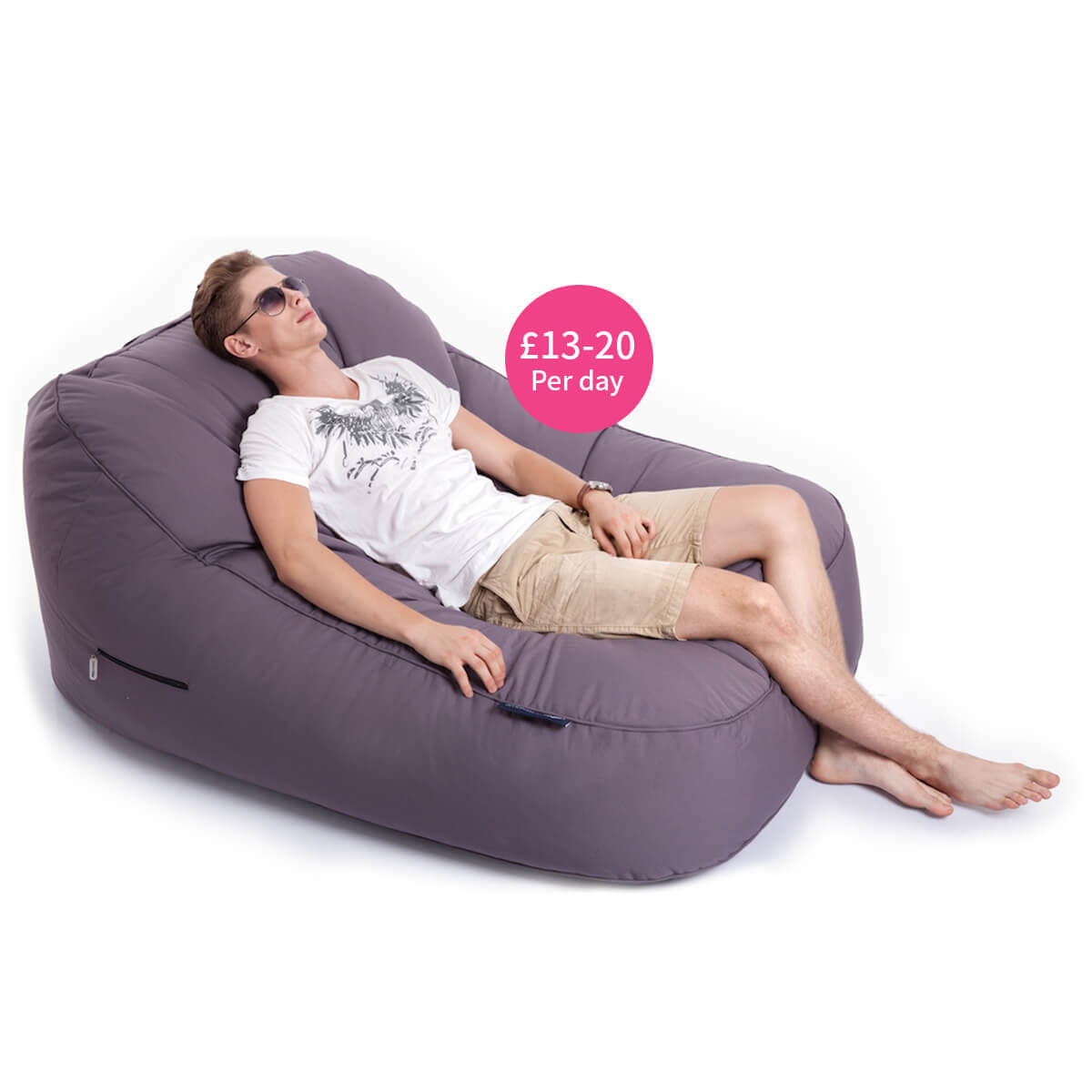 Twin lounger beanbag for hire