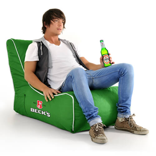 becks branded beanbag chair