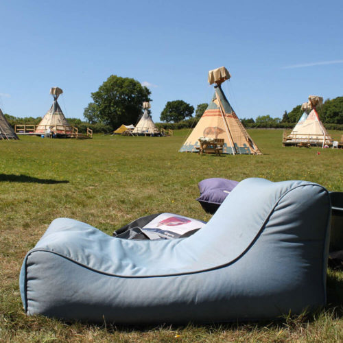 waterproof bean bag to add on your outdoor tipi events