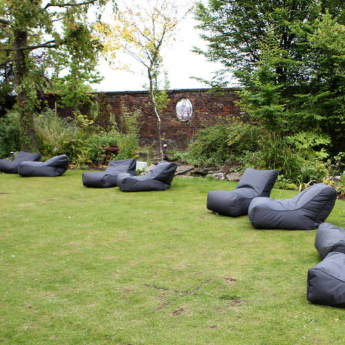 have an outdoor Moonlight themed party in your lawn with bean bags for hire