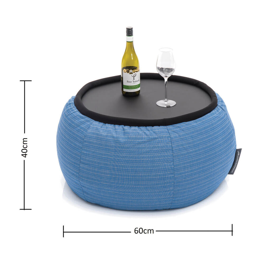waterproof blue versa table for events, functions and festivals
