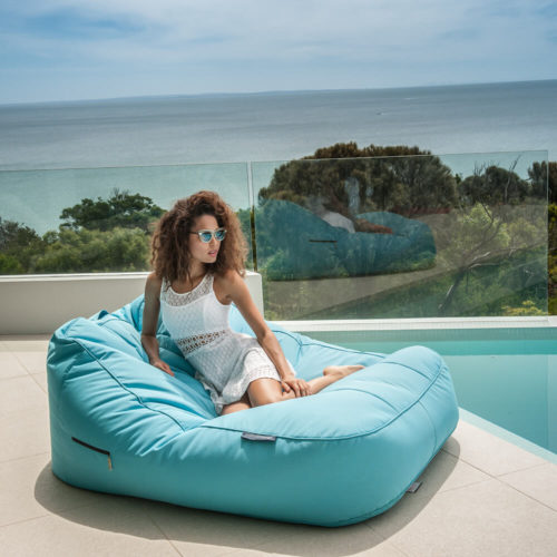 poolside events is more fun and comfy with double seater bean bags for hire