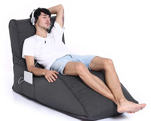 UK Hire Bean Bags by Ambient Lounge Feel Cozy with Avatar Sofa Black Waterproof Bean Bag