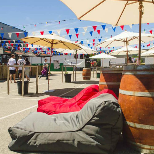 waterproof outdoor bean bags for chill out area during summer events or festivals