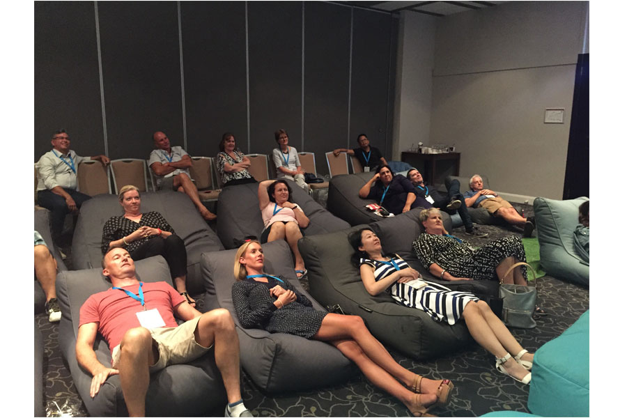 employees of Bayer Australia enjoyed their fun event as they hired bean bags for a new app launch