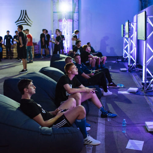 comfy bean bags hired for the FIFA tournament part of the Adidas Tango League