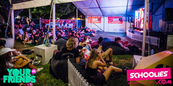 outdoor chill zone has bean bags to entertain guest during Good Life Music Festival in Brisbane