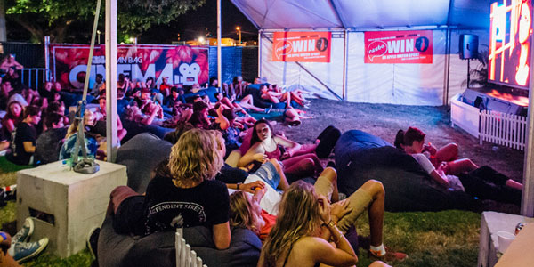 bean bag added at chill out zone during Good Life Music Festival in Brisbane