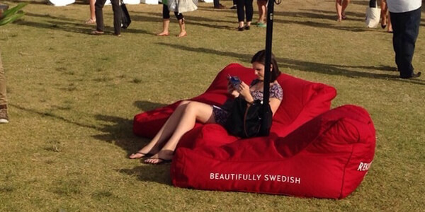 bean bags for your product launch or product events